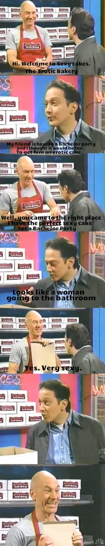Patrick Stewarts Sexy Cakes. .