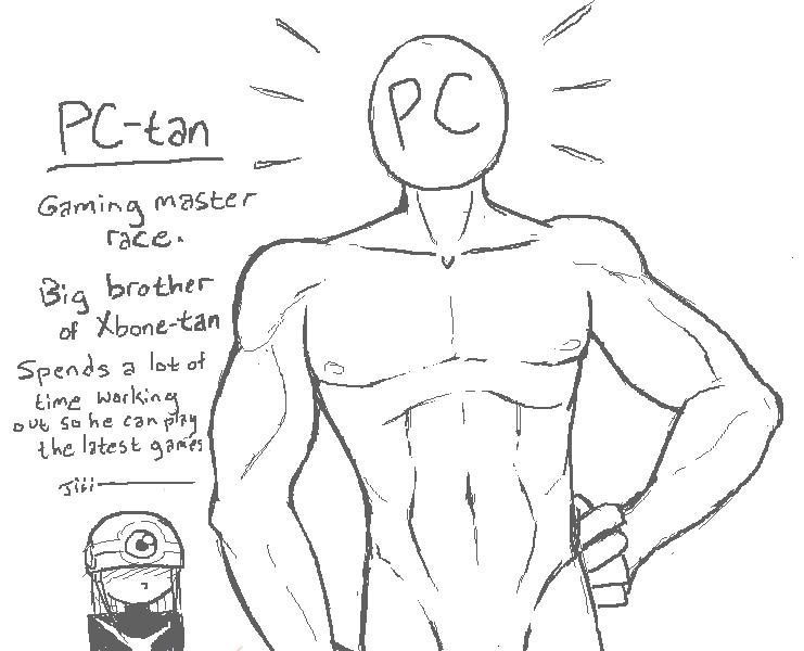 "PC-tan showcase. PC-tan. ire brother"" . f tke, latest -:53: -is Pc gaming Tan Videogames simulators"