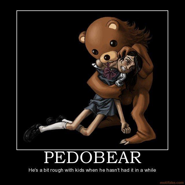 Pedo. . He/ s a bit rough with kids when he hasn' t had it in a while. Too far. Pedo He/ s a bit rough with kids when he hasn' t had it in while Too far