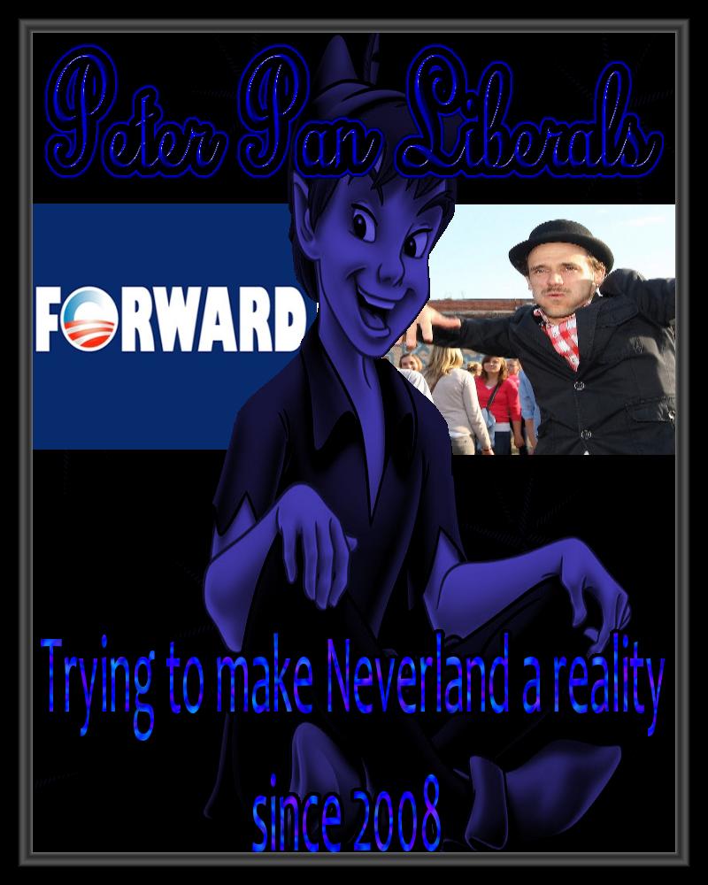 Peter Pan Liberals. picture taken from worldevents.deviantart dot com. politics politic