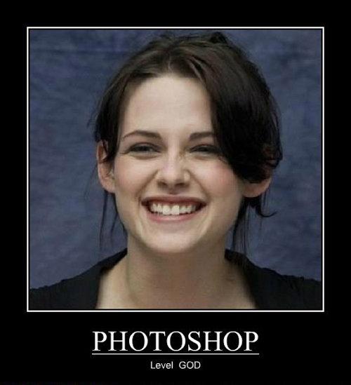 Photoshop god. . PHDTC) SHOP Level EDD. That moment when all of FJ can't recognize Kristen Stewart when she smiles. Photoshop God
