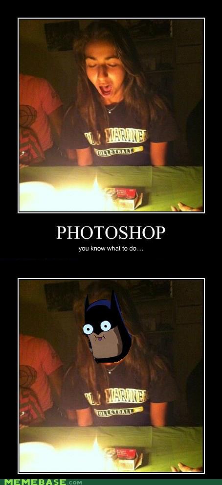 Photoshop lvl: 9001. . PHOTOSHO) P you krp. what to an . MEMEBASE. That made me laugh more then it should've Photoshop batman