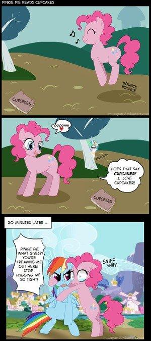 Pinkie Pie Reads Cupcakes. Eryup. pony porn