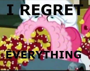 pinkie's regret. . pinkie's regret