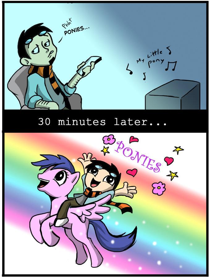 Ponies in a nutshell. I like ponies. ponies in a nutshell