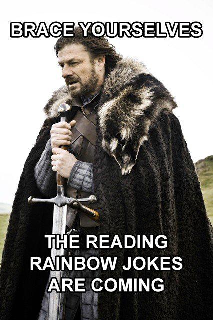 Pony Related. . THE READING RAINBOW JOKES ARE comma Pony Related THE READING RAINBOW JOKES ARE comma