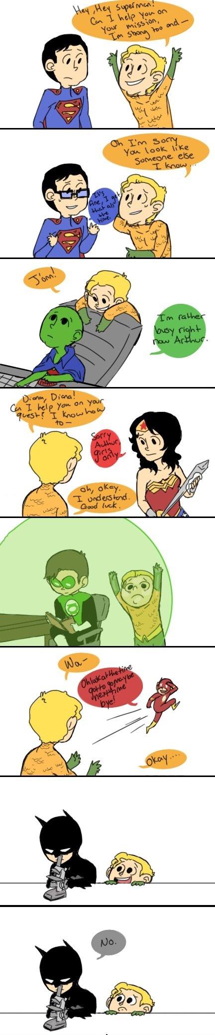 poor aquaman.... mild feels.. Who's useless? superheroes