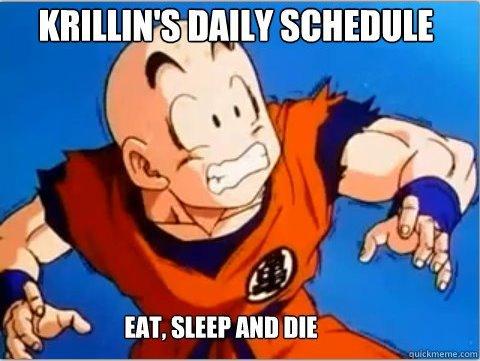 Poor Krillin. haha. DAILY SI} krillin dbz Anime funny