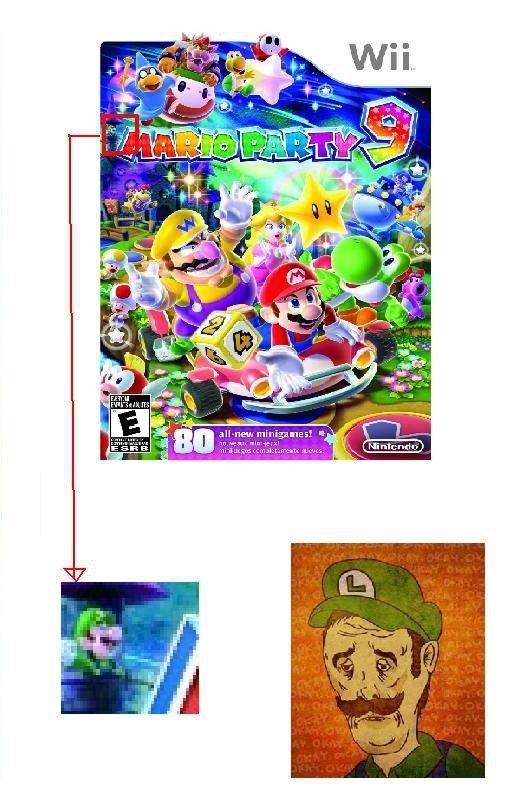 Poor Luigi. Luigi's fame has just gone down the toilet. Mario luigi Video Games Party little guy