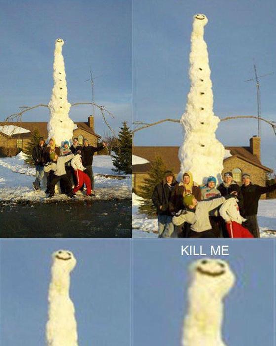 Poor snowman. .. I'm so high right now. asdasdasds