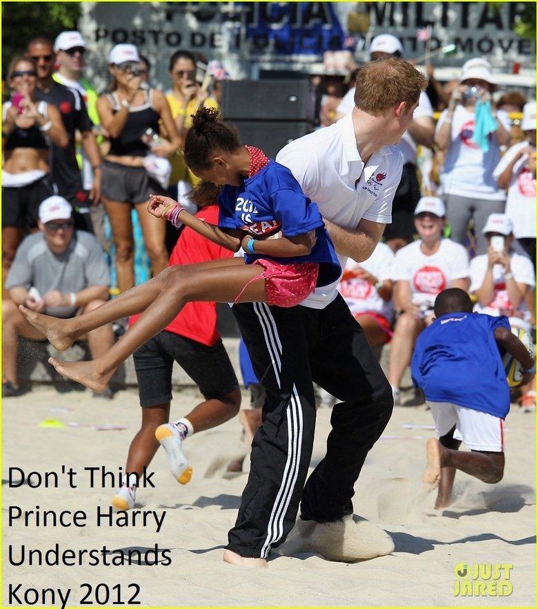 "Prince Harry Kony 2012. .. it was national ""throw a "" day there. prince harry Kony lol"