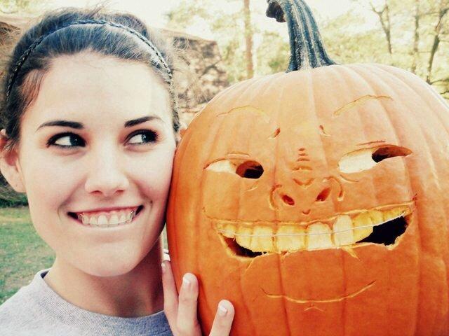 Pumpkin selfie. .. hot Girl on the left is ok i guess Pumpkin selfie hot Girl on the left is ok i guess