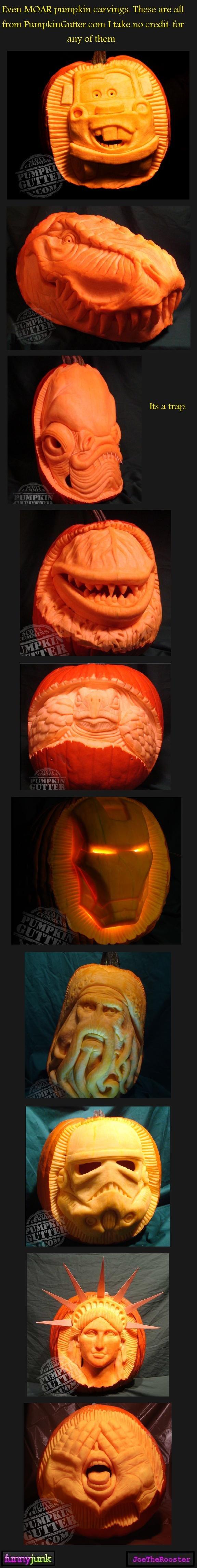 Pumpkin carvings 3. Moar<br /> Pumpkin carvings 3 Moar<br />