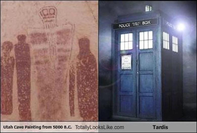 TARDIS. Originally from IFLS, but still good... It looks like a king in a cape with a big long beard. IFLS doctor who TARDIS totallylookslike