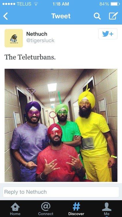 Teletubbies say Namaste. . 4 Tweet Ck Cif Disc aver. The Talitubbies