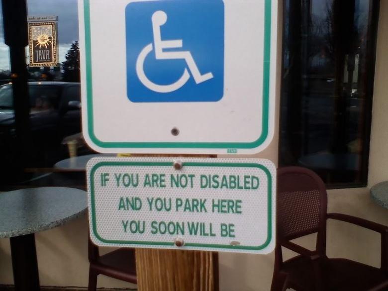 Temptation to Be handicap. . handicap
