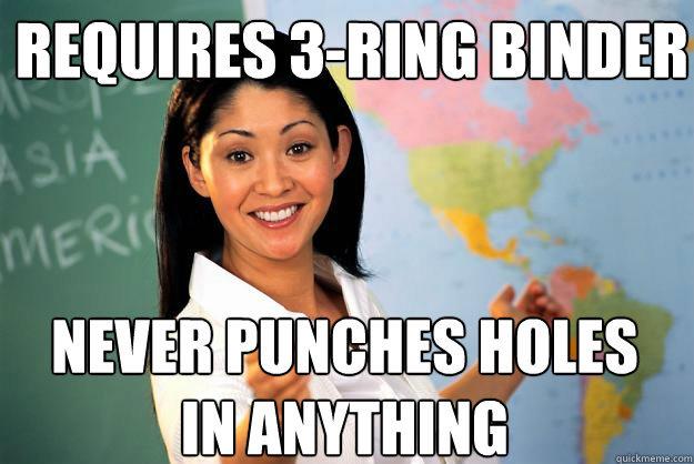 Terrible Teacher strikes again.. Loads of pics and GIF's for your reaction folder, I got hundreds of reaction folder pics/GIFs from this site. It's awsome! ---- terrible Teacher High School highschool hole puncher