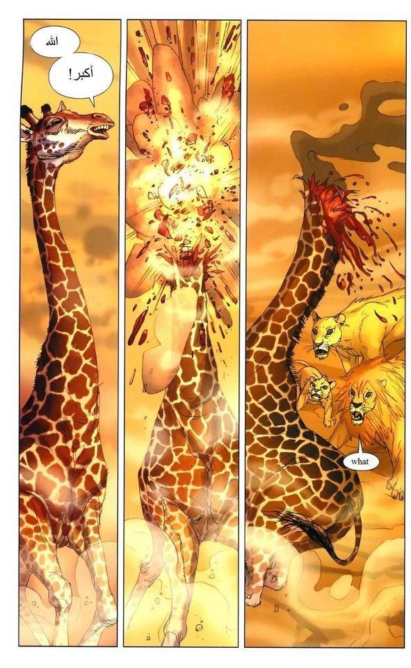 Terrorist Giraffe.. .. iv seen this content 9 times so far, and now i get it. Giraffe terrorist Explosion funny Animals