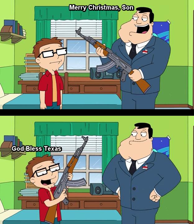 Texas, Fuck Yeah. Gun, Guns, Guns. L as lss Texas. Dammit, Steve, trigger discipline! Murica