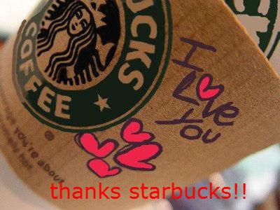 thanks starbucks. .. Photoshopped. thanks starbucks Photoshopped