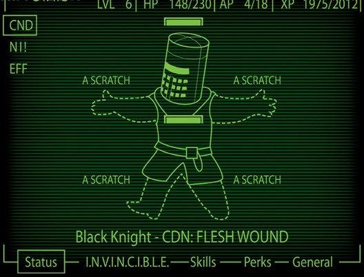 The black knight. . f ts Black Knight - CDN: FLESH WOUND Perks - General L The black knight f ts Black Knight - CDN: FLESH WOUND Perks General L