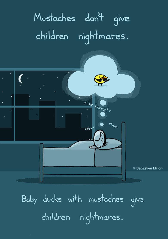 """The Duckmare"". . No supes Jon' -) Siva nighmares. Sebastien Millon Baby ducks w/ l, r, jive mores . ""The Duckmare"" No supes Jon' -) Siva nighmares Sebastien Millon Baby ducks w/ l r jive mores"