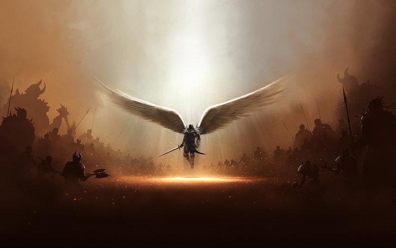 The start of war. .. that's cute angel Army War