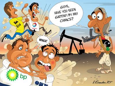 The war in Libya.. Erm hello... Cheaper oil prices and profit :l The war in Libya Erm hello Cheaper oil prices and profit :l