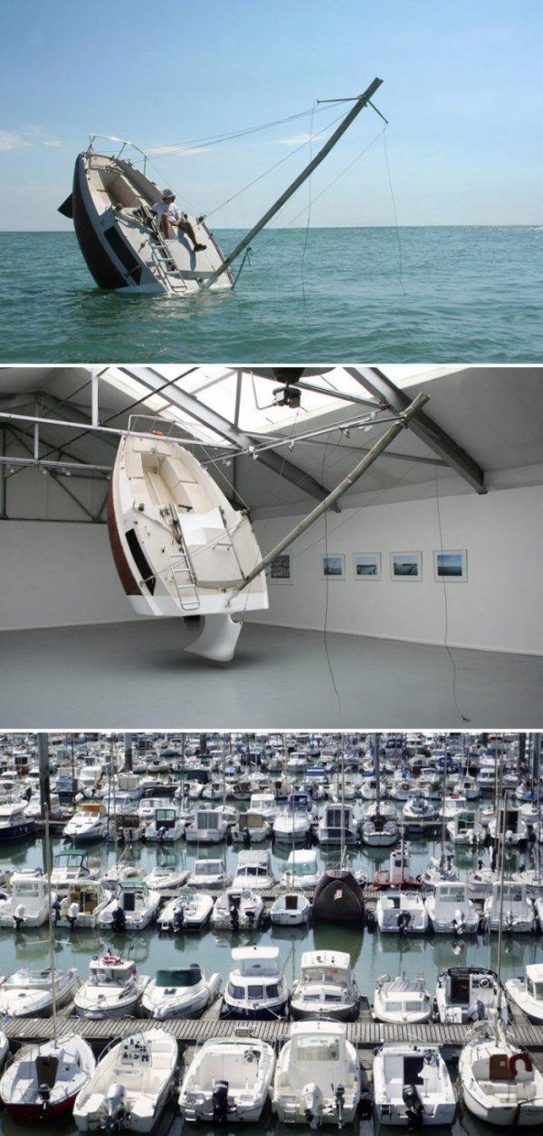 The fake Capsizing boat Trolls the Seas. .. The Titanic model? No? You sure? The fake Capsizing boat Trolls the Seas Titanic model? No? You sure?
