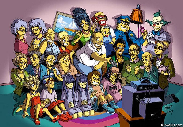 The real simpsons. . Kuvat( . com. lisa has got the same hair yugi from yu-gi-ho lol simpsons cartoon