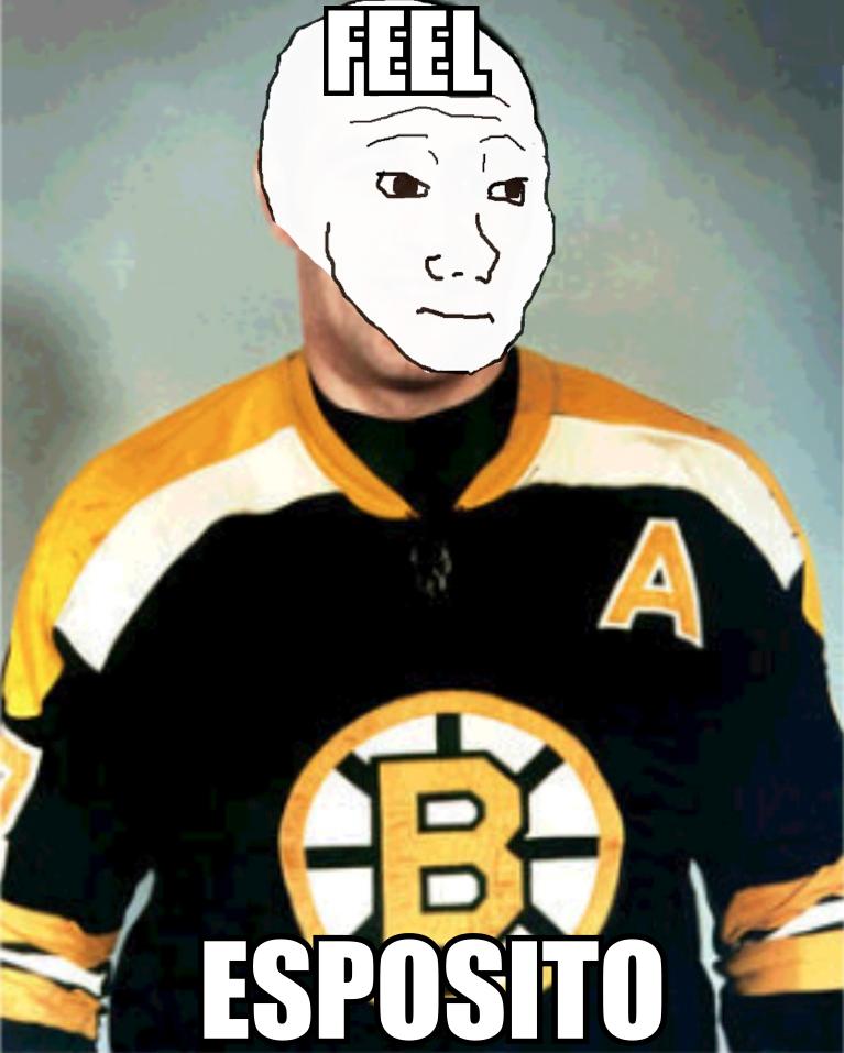 Them Feels. Bruins Legend Feel Esposito. Them Feels Bruins Legend Feel Esposito