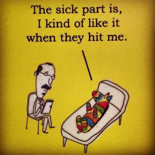Therapy. da fck ?.. das kinky ;) pinata lol hit funny haha sick WTF therapy LMAO Stupid