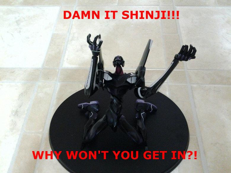 This is (Not) a joke. God damn it Shinji just get in the robot! Anyways Happy New Year all you magnificent bastards!. IT SHINJI!!! evangelion shinji