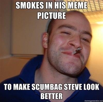 This makes sense.... Jordan Carver... theleek.com/2013/01/hump-day-jordan-carver-does-yoga/. MITRE STEVE BETTER. Ha... his cigarette looks like it's going inside his nose...