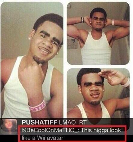 "This Nigga. I'm white.. Tr. LN/ IAC) FIT 4) , to,: Kushisa"" ), This lam. i tried be gentle"