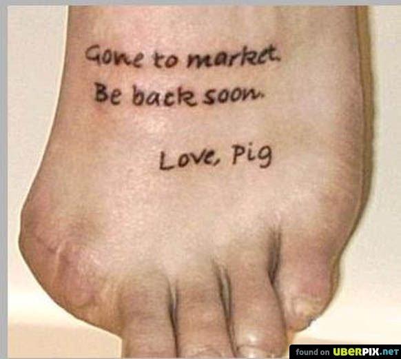 this little piggy. . this little piggy