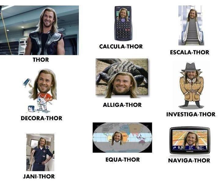 Thor. . CALCU WALTHOR tir, ALLIGATER an Thor CALCU WALTHOR tir ALLIGATER an