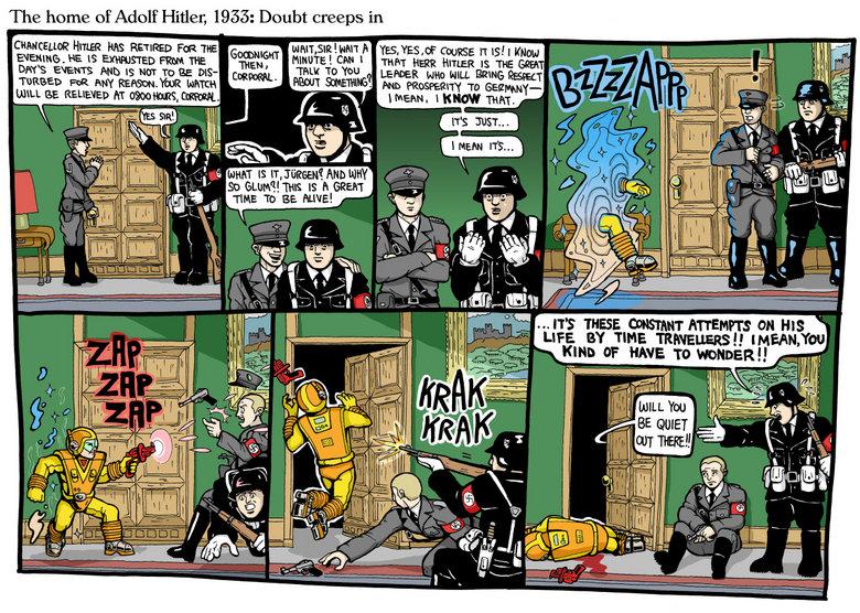 "Time Travel Nazi. teehee. The heme if Hitter; 1953: ' lall creeps in Hing: has RETIRED Faan we mean' . -ann ."" Biisi as Easi. RRI "" r. RI I Emu LIFE ear TIME ma Nazi Time travel grammar zap bitch gtfo"