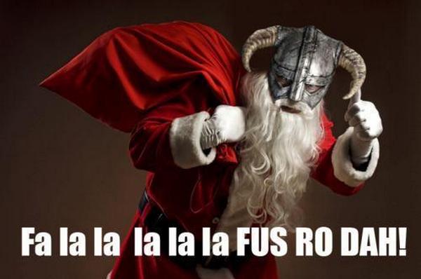 Tis the Season to be jolly. . Santa skyrim Fluttershy