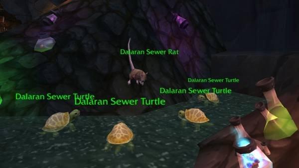 "TMNT in WoW. I miss watching TMNT It's in Dalaran, for those not being able to read the names. la naan Sewer Rar Dal, airair 'er/ iii"""" Dalaran Sewer r e a arar TMNT wow Dalaran Master Splinter turtles"