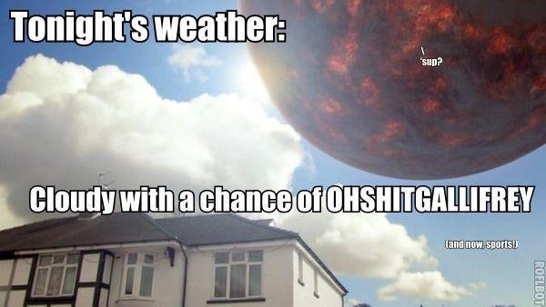 Todays weather forecast,. .. All I saw Todays weather forecast All I saw