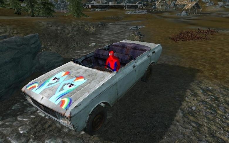 Too much Skyrim Mod?. I think not, good sir.. NA NA NA NA NA NA NA NA SUPERMAN .....superman took a Web to the Knee