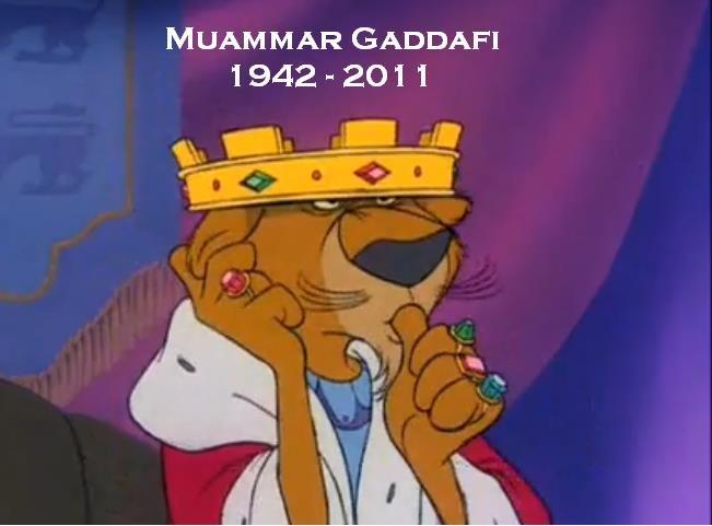 Too soon?. . B/ MUAMMAR 1942 - 201 1 Muammar Gaddafi