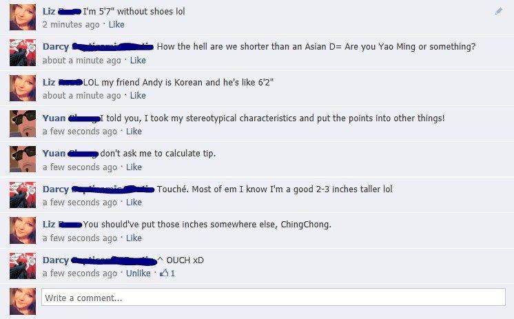 Trade off?. Facebook antics.. Trade off? Facebook antics