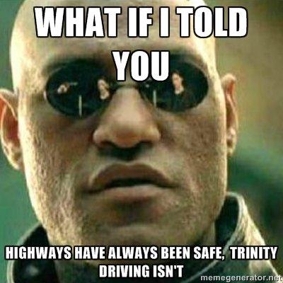 """Trinity. demm tagz. s"""" new sure. mum. What's trinity driving? va jay jay"""
