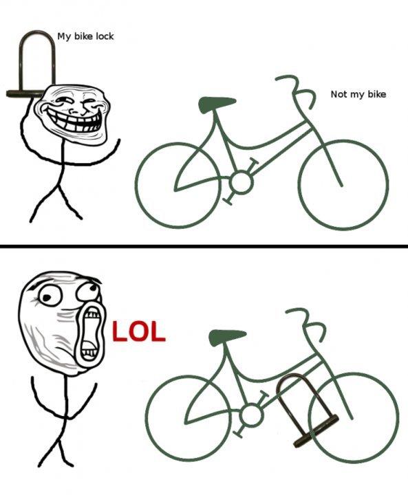 trollin the bike rack. .. LOL! XD trollin the bike rack LOL! XD