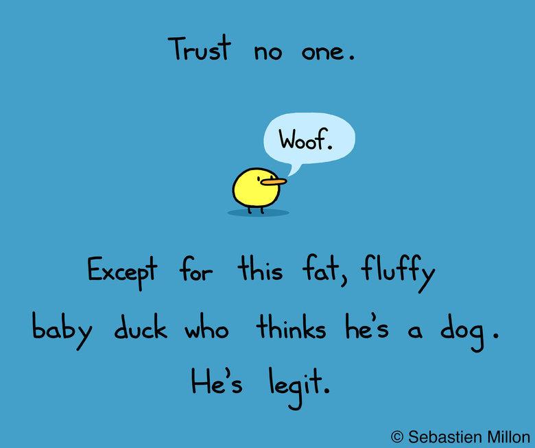 Trust no one. . Trust no one