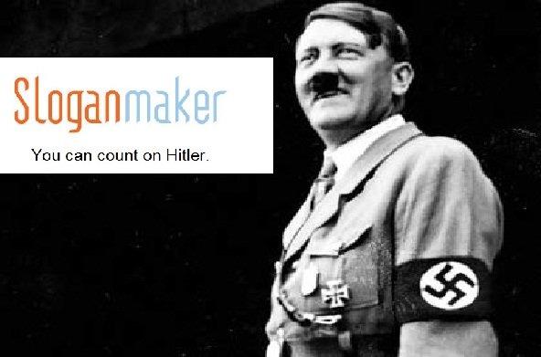 Trustworthy man. mmhm. Slogan. yes, you can trust me ... Hitler slogan maker