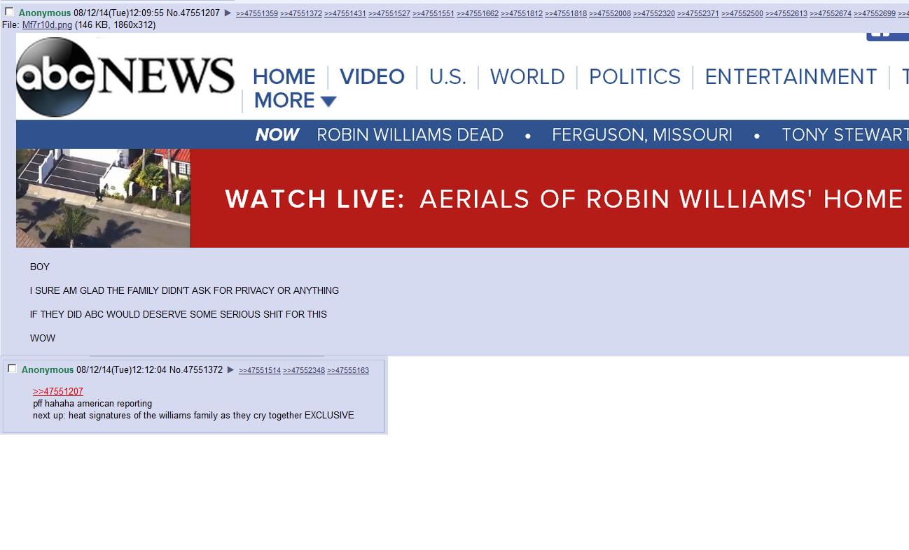 /tv/ on Robin Williams news coverage. . i) l) /', HOME VIDEO US. WORLD POLITICS ENTERTAINMENT I MORE? NOW DEAD r.'. FERGUSON, MISSOURI r.'. TONY STELAR WATCH LI /tv/ on Robin Williams news coverage i) l) /' HOME VIDEO US WORLD POLITICS ENTERTAINMENT I MORE? NOW DEAD r ' FERGUSON MISSOURI TONY STELAR WATCH LI