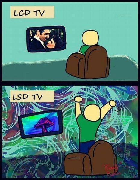 TVs. Source: .. Now in .gif format. TV lcd lsd Drugs